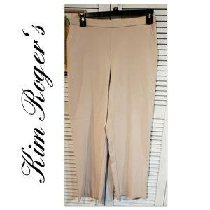 🔮KIM ROGERS Petite Womens Khaki Pants Size 12P